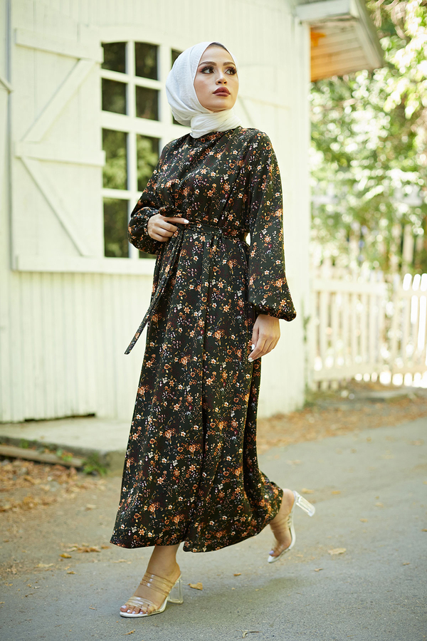 Mom Elbise 7094-3 Haki