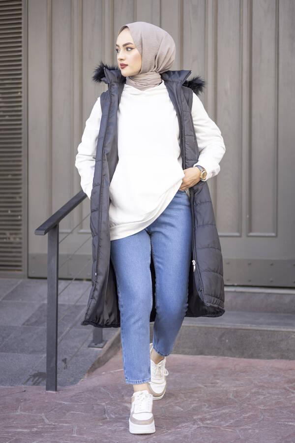 Mom Jean Kot Mavi Pantolon 210TB-2071 -6