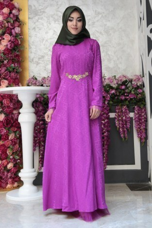 MTX Jakar Dokuma Abiye Elbise 2231-8 - Thumbnail