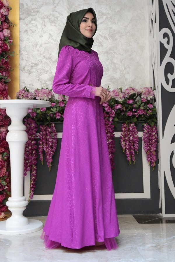MTX Jakar Dokuma Abiye Elbise 2231-8