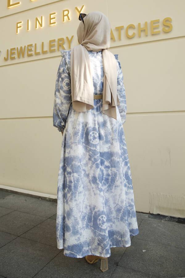 Nakış Detaylı Abiye Elbise -5