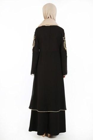 Nakış Detaylı Abiye Elbise 6011-01 - Thumbnail