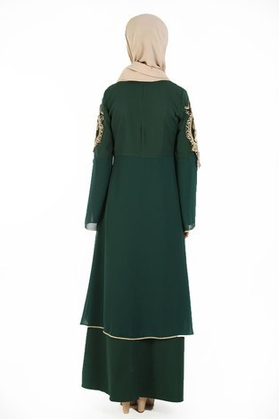 Nakış Detaylı Abiye Elbise 6011-06 - Thumbnail