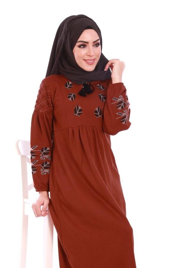 - Nakış Detaylı Triko Elbise 4700-06 (1)