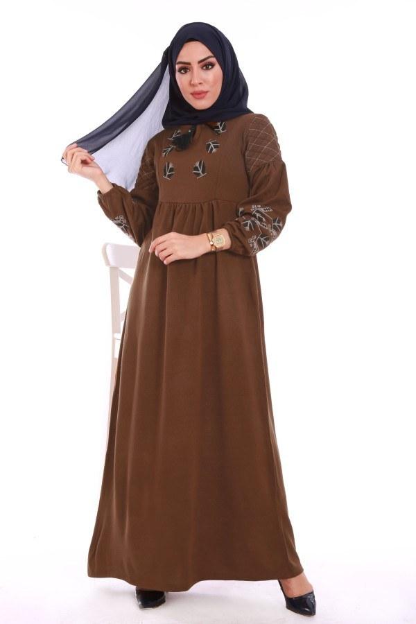 - Nakış Detaylı Triko Elbise 4700-07