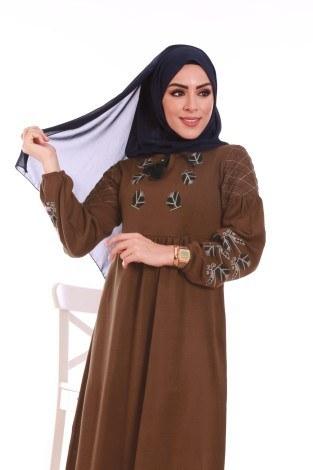 - Nakış Detaylı Triko Elbise 4700-07 (1)