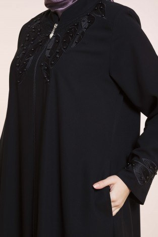 - Nakışlı Boncuklu Ferace modahayme 8110-2-siyah (1)