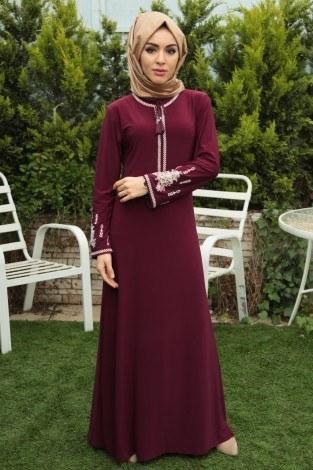 - Nakışlı Elbise 4155-3