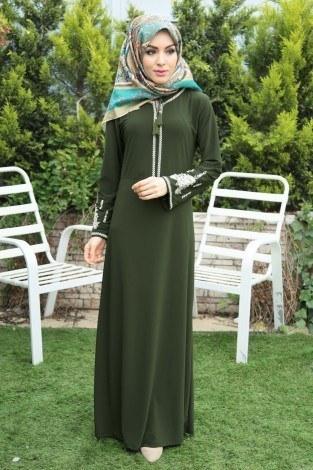 - Nakışlı Elbise 4155-4
