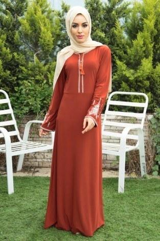- Nakışlı Elbise 4155-6