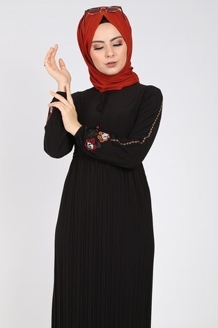 - Nakışlı Piliseli Elbise 8080-1 (1)
