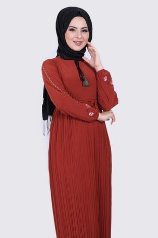 - Nakışlı Piliseli Elbise 8080-2 (1)