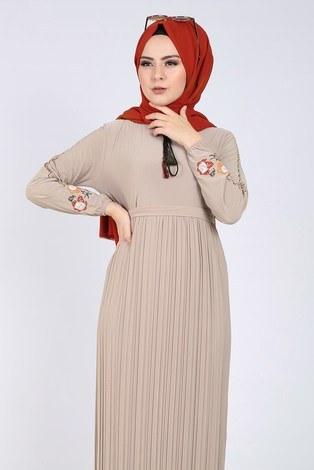 - Nakışlı Piliseli Elbise 8080-3 (1)