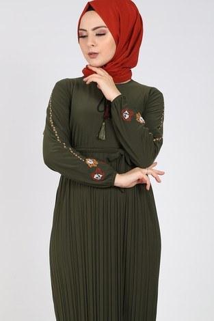 - Nakışlı Piliseli Elbise 8080-4 (1)