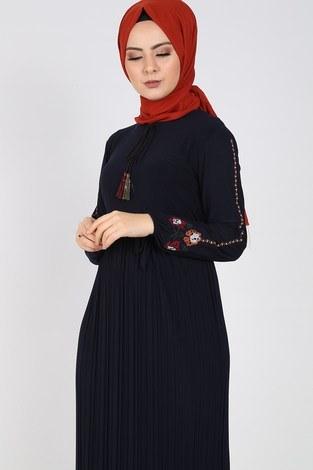 - Nakışlı Piliseli Elbise 8080-5 (1)