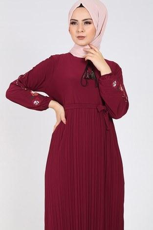 - Nakışlı Piliseli Elbise 8080-7 (1)