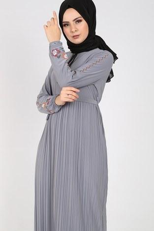 - Nakışlı Piliseli Elbise 8080-9 (1)