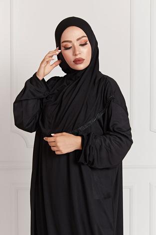 - Namaz Elbisesi 7533-1 Siyah (1)