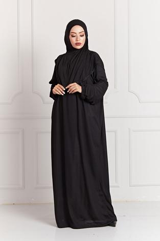 - Namaz Elbisesi 7533-1 Siyah
