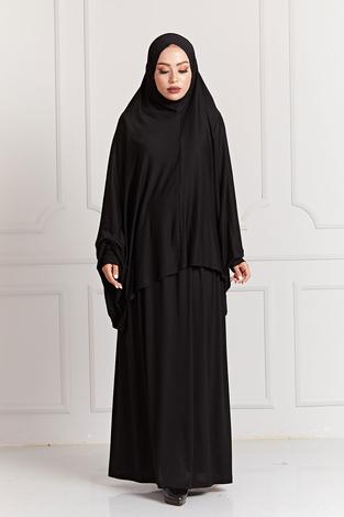 - Namaz Elbisesi 8083-1 Siyah