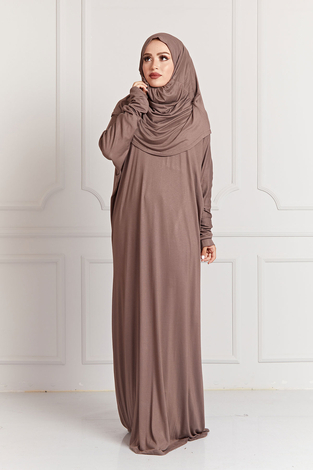 - Namaz Elbisesi 8842-1 Camel