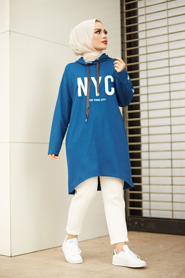 AVEN NYC Spor Sweat 8422-4 İndigo