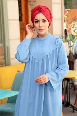 - Omuzları Fırfırlı Elbise Elifnur 3057-6 (1)