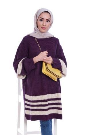 - İki Renk Oversize Kazak 9370-20 (1)