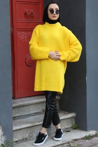 - Oversize Kazak 9370-11 sarı