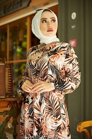 - Palmiye Desenli Elbise 2357-1 (1)