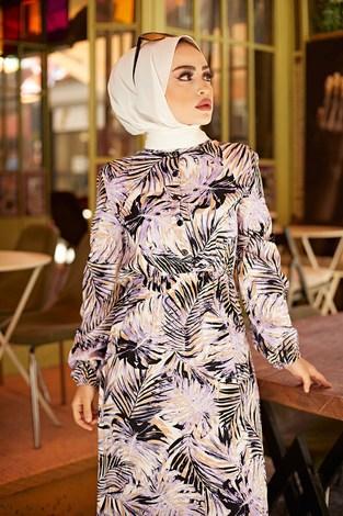 - Palmiye Desenli Elbise 2357-2 (1)
