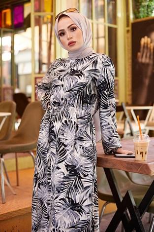- Palmiye Desenli Elbise 2357-3 (1)