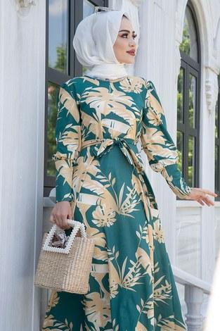 - Palmiye Desenli Mevlana Elbise 6732-1 (1)