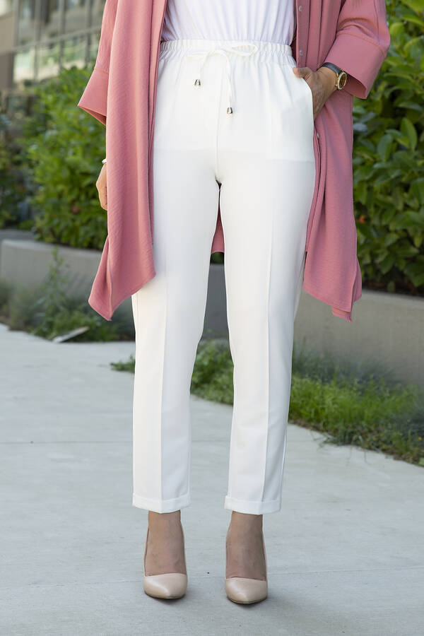 Pantolon 100MD10503 Beyaz