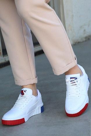 - Parça Renkli Beyaz Spor Ayakkabı 6149-4 (1)