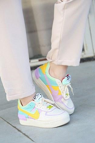 - Parça Renkli Kontrast Spor Ayakkabı 8002-1