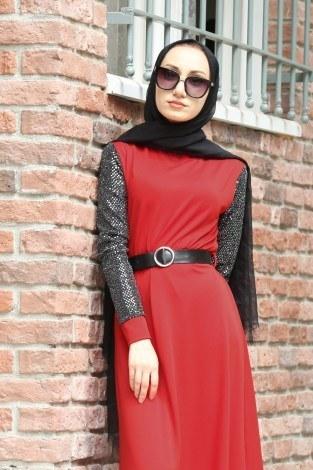 - Payet Detaylı Elbise 4118-05 (1)