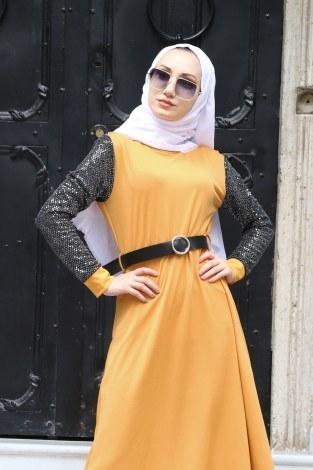 - Payet Detaylı Elbise 4118-10 (1)