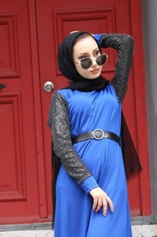 - Payet Detaylı Elbise 4118-08 (1)