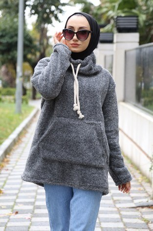 - Peluş Sweat 2296-12 gri