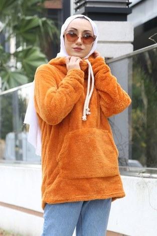 - Peluş Sweat 2296-28 turuncu (1)