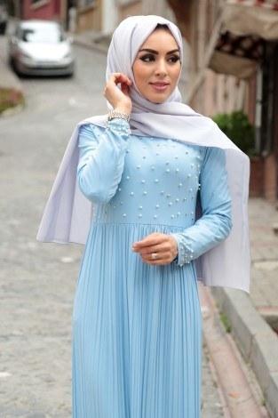 - Piliseli İnci Detaylı Elbise 151530-19 (1)