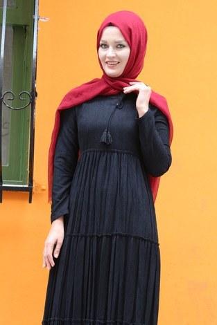 - Piliseli Kadife Elbise 6487-01 (1)