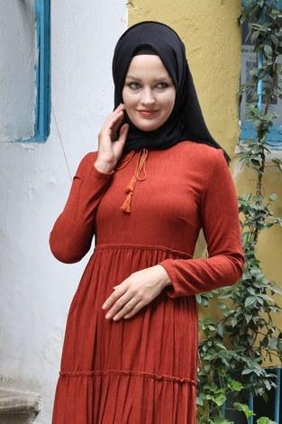 - Piliseli Kadife Elbise 6487-16 (1)