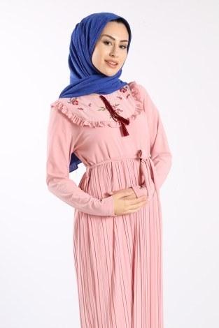- Piliseli Nakışlı Elbise 1546-02 (1)