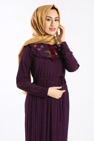 - Piliseli Nakışlı Elbise 1546-04 (1)