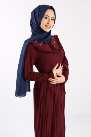 - Piliseli Nakışlı Elbise 1546-06 (1)