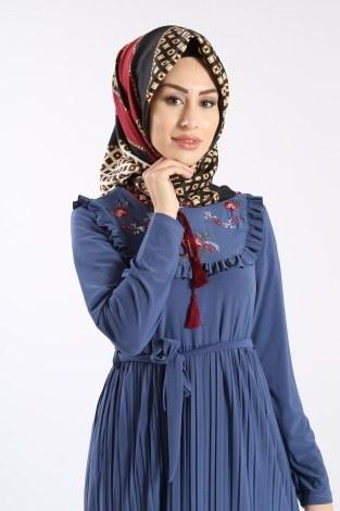 - Piliseli Nakışlı Elbise 1546-08 (1)