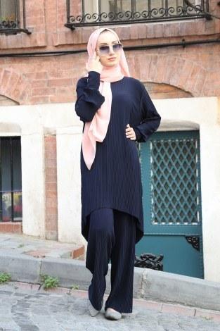 - Piliseli Pantolon-Tunik Takım 4765-10 Lacivert