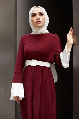 - Piliseli Sandy Elbise 8994-2 Bordo (1)